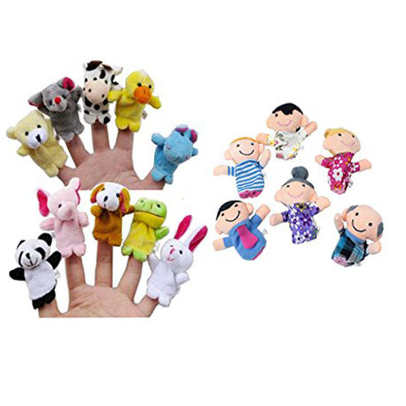 16PCS Finger Puppets Animals (10) People (6) Family Members Educational Toy LK 1