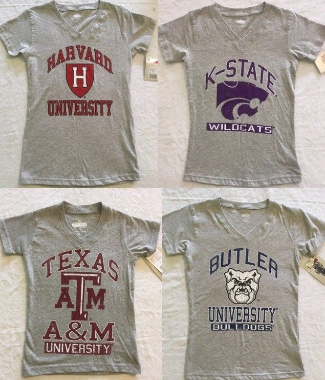 Heather Grey Girl's & Toddlers T-Shirt Texas A&M, Harvard, K-State, Butler