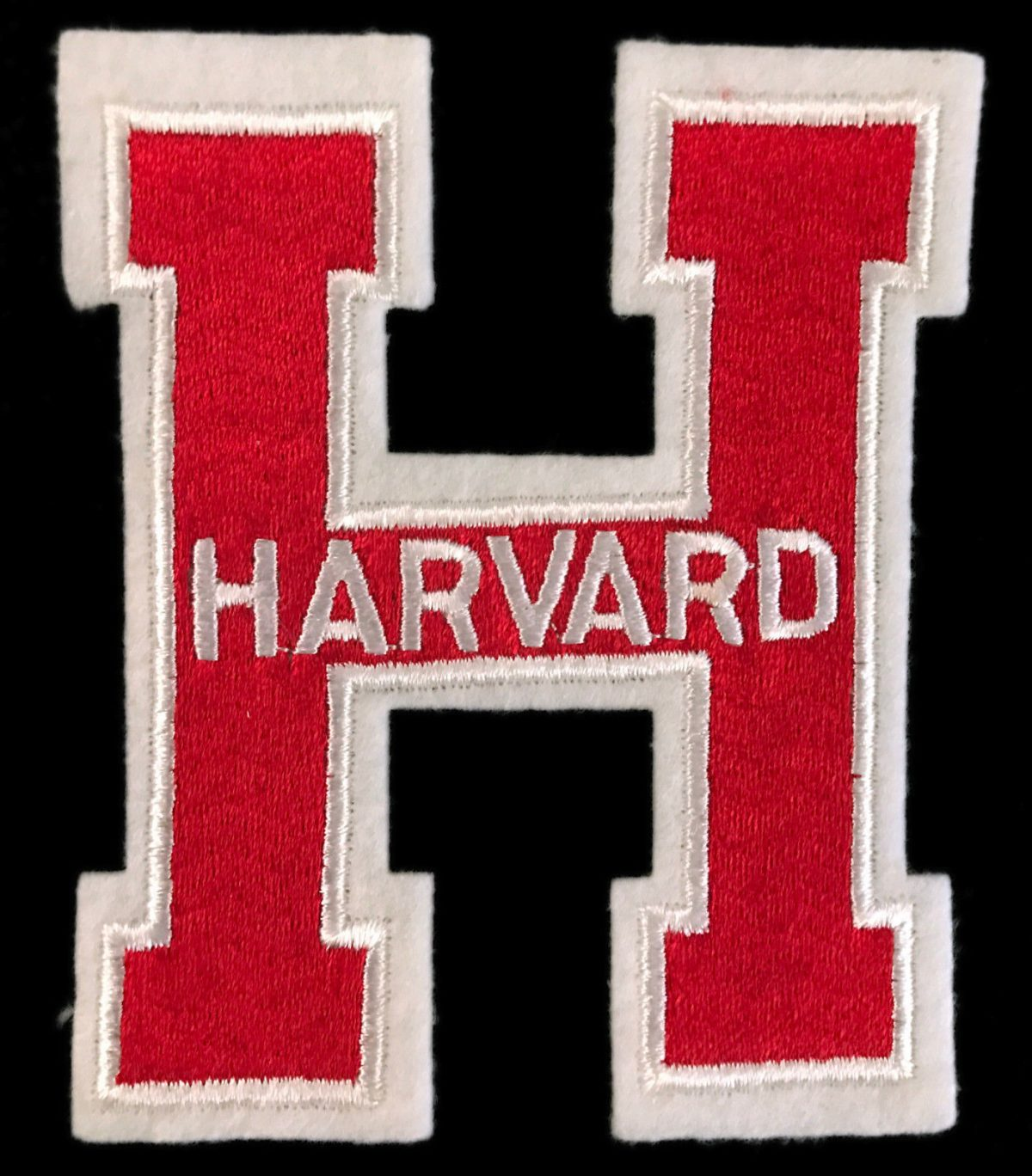 HARVARD UNIVERSITY CRIMSON NCAA COLLEGE 5″ LETTER PATCH