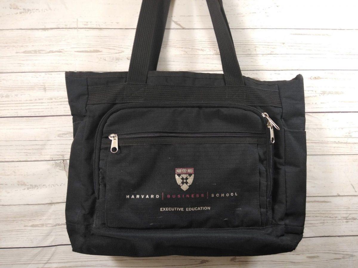 HARVARD Business School Heavy Canvas laptop/book Bag Black veritas briefcase