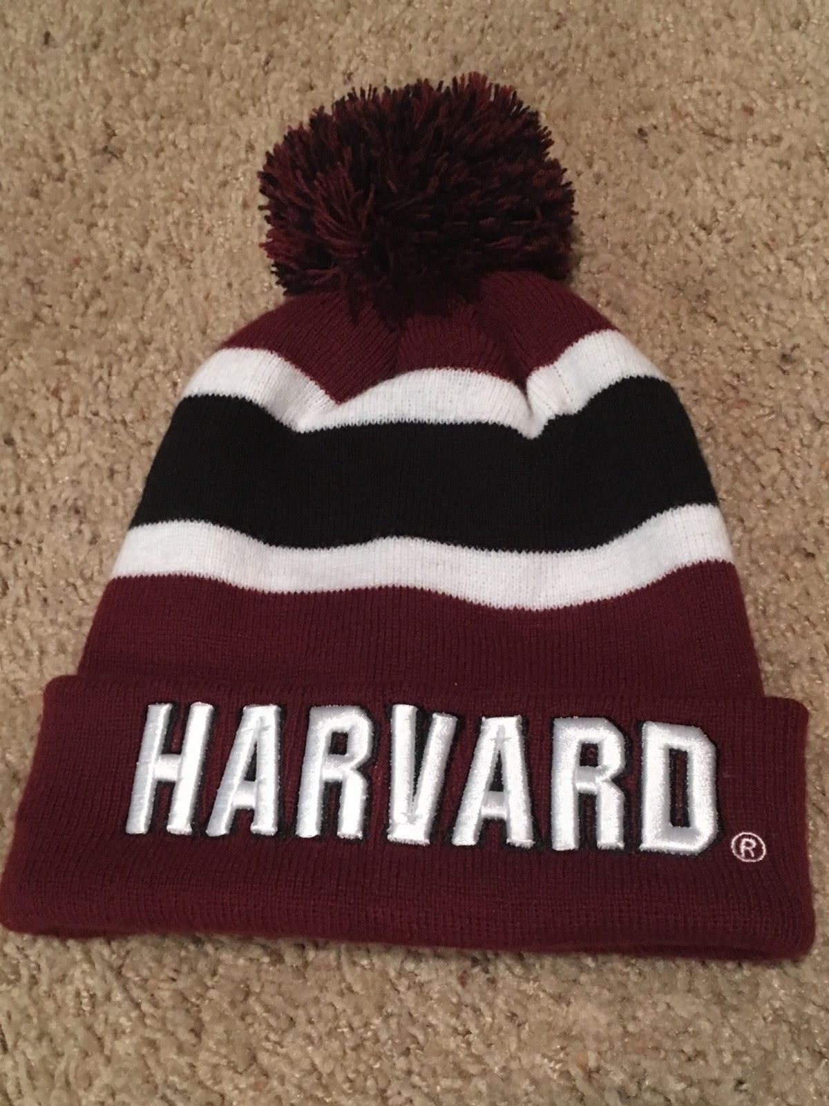 Harvard University Crimson Winter Beanie Hat Ivy League One Size Fits All