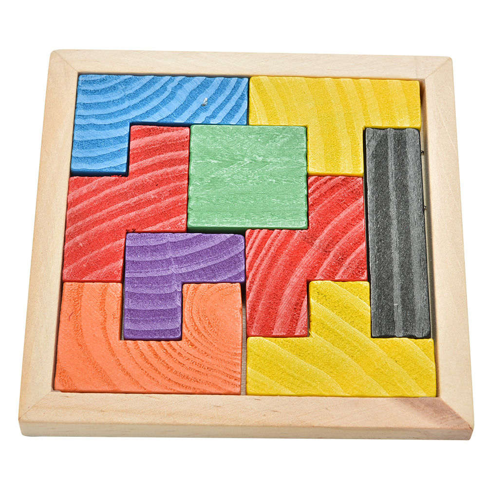 Wooden Tangram Brain Teaser Puzzle Tetris Game Educational Baby Kid.Children Toy