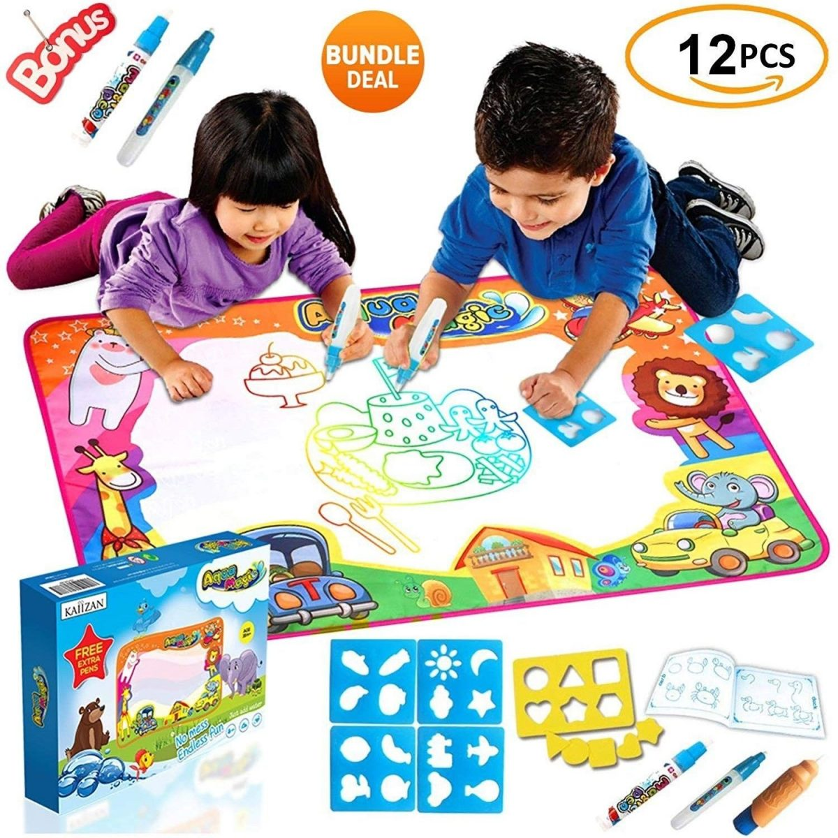 Educational Toys Gifts For Kids Toddler New Aqua Mat Water Drawing Boy Girl