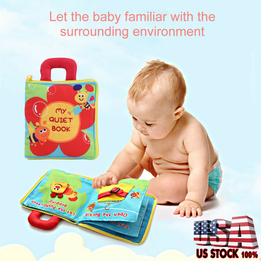 Infant Intelligence Developmental Soft Cloth Book Early Learning Educational Toy
