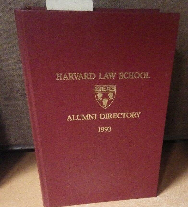 1993 HARVARD LAW SCHOOL BOOK ALUMNI DIRECTORY 1996 LARGE BOOK
