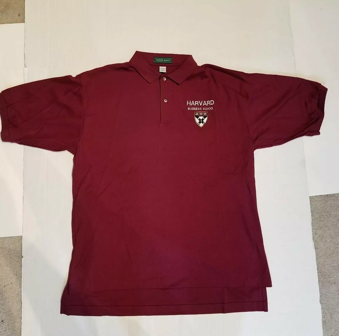Harvard Business School Polo Embroidered Shirt Clothing Alumni Alma Mater sz XL