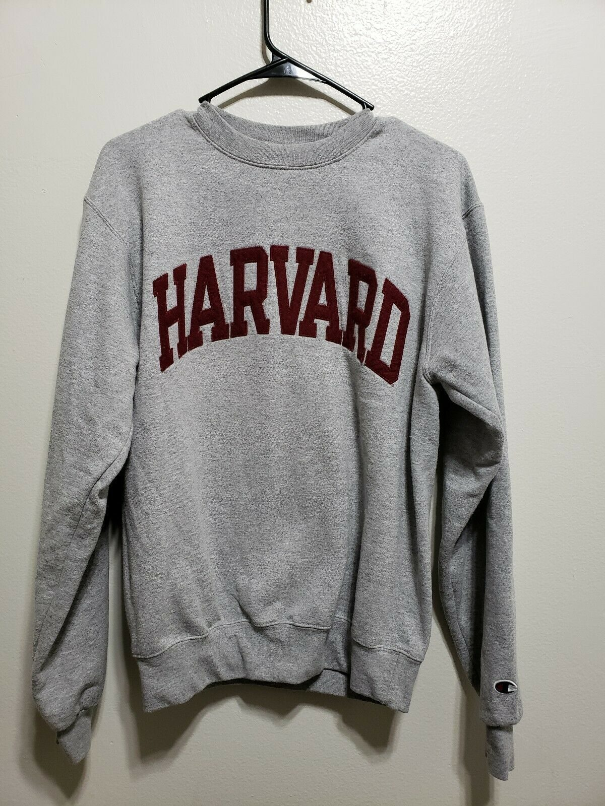 Champion Harvard University Crewneck Eco Fleece Sweatshirt Vintage classic Small 1