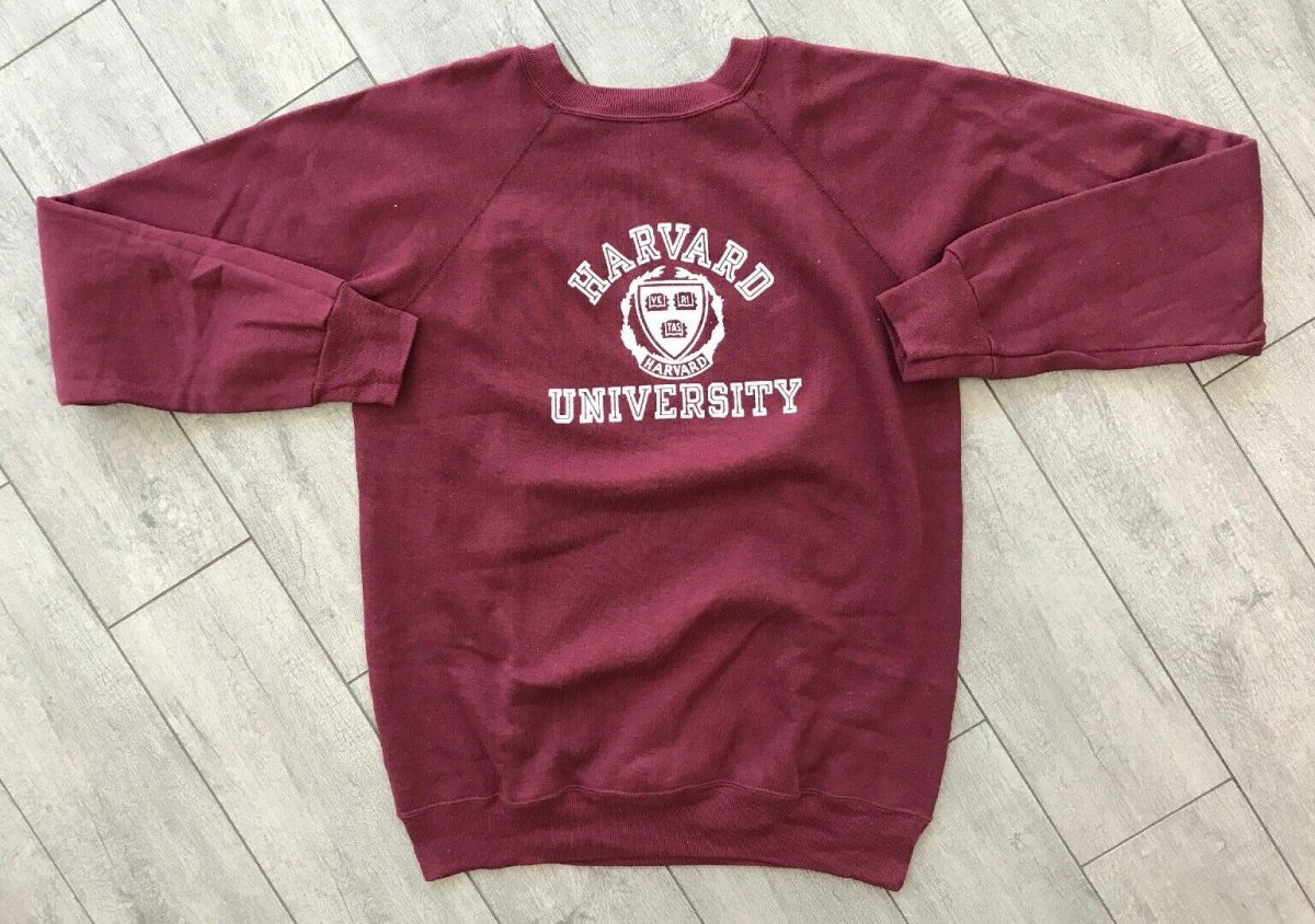 Vintage 80's Champion Harvard University Sweatshirt Size Adult Large Made In USA