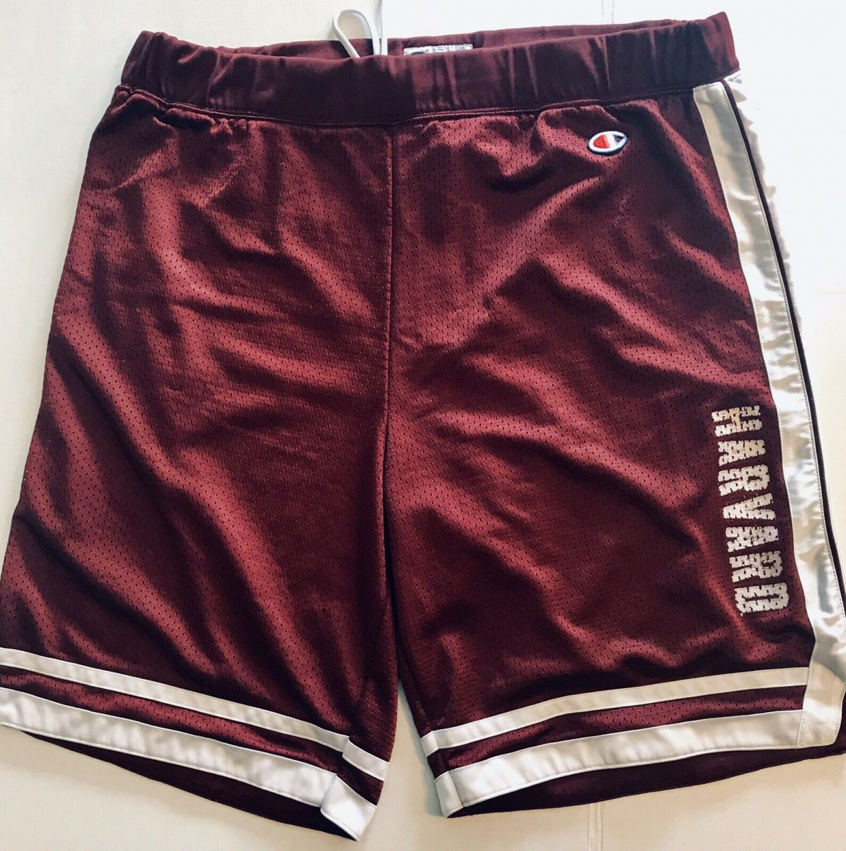 Champion Vintage Harvard  UNIVERSITY BASKETBALL TRUNKS Shorts SIZE Large