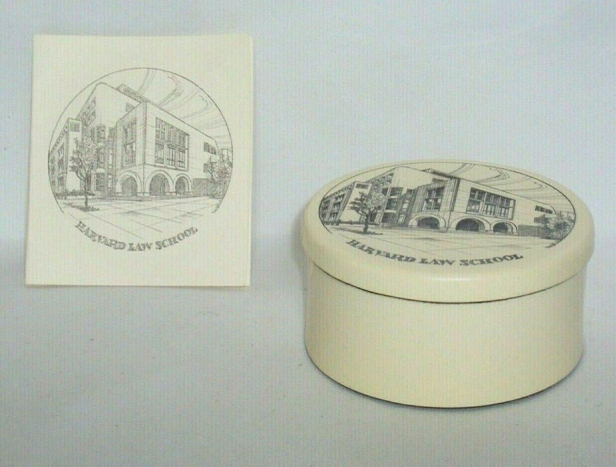 Harvard Law School Ceramic Trinket Box