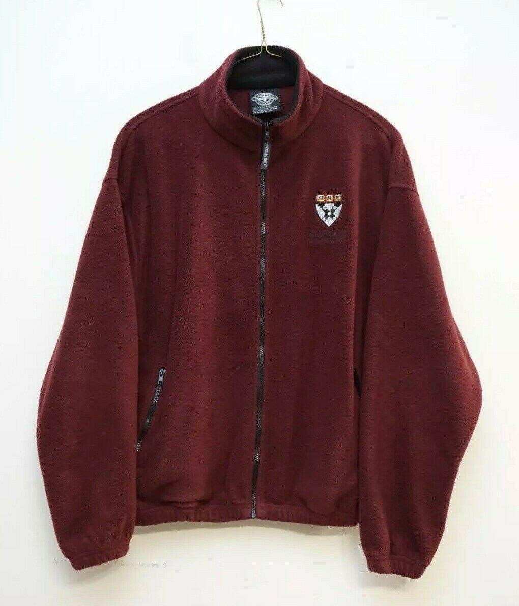Charles River Mens XXL Harvard Business School Fleece Jacket Full Zip 1