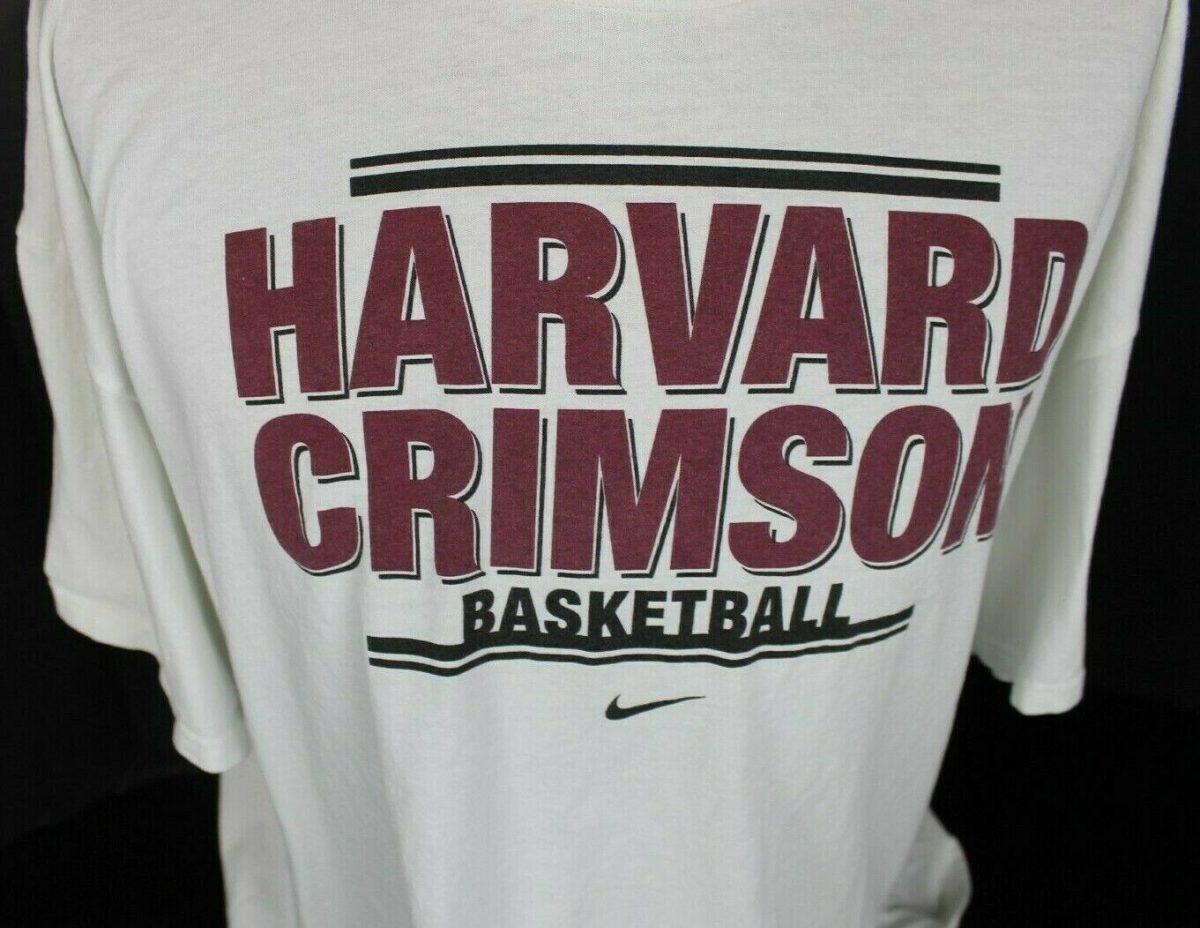 UNIVERSITY OF HARVARD CRIMSON BASKETBALL NIKE TEAM JUST DO IT T-SHIRT SIZE 3XL