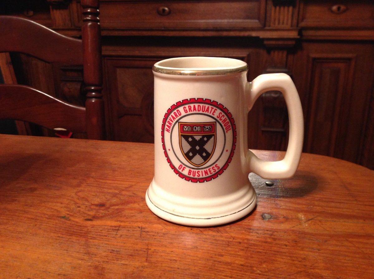 Vintage Harvard Graduate School Of Business Mug Cup Stein USA Made 714