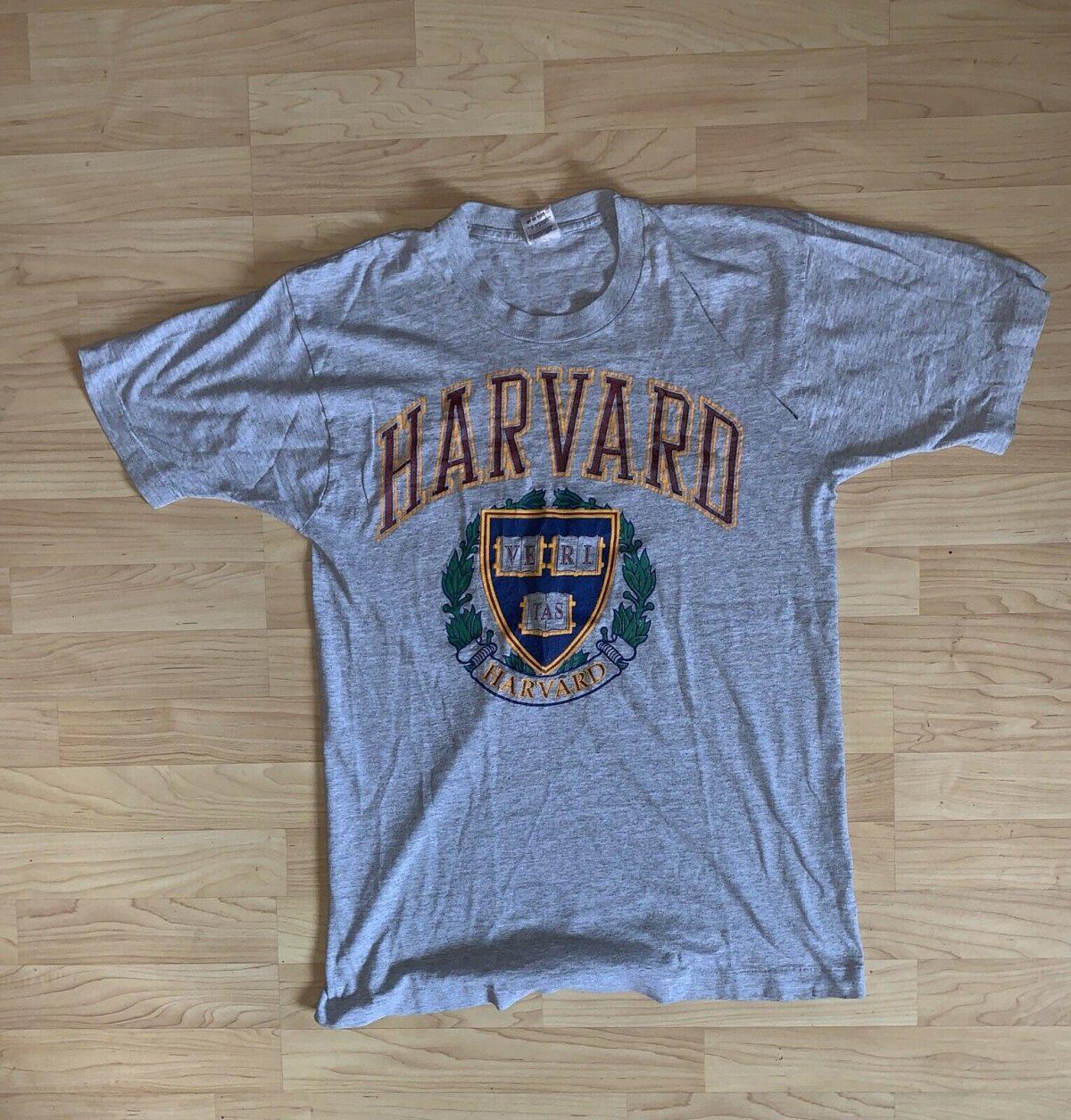 Vintage 90s Made Harvard University T Shirt Size L Large