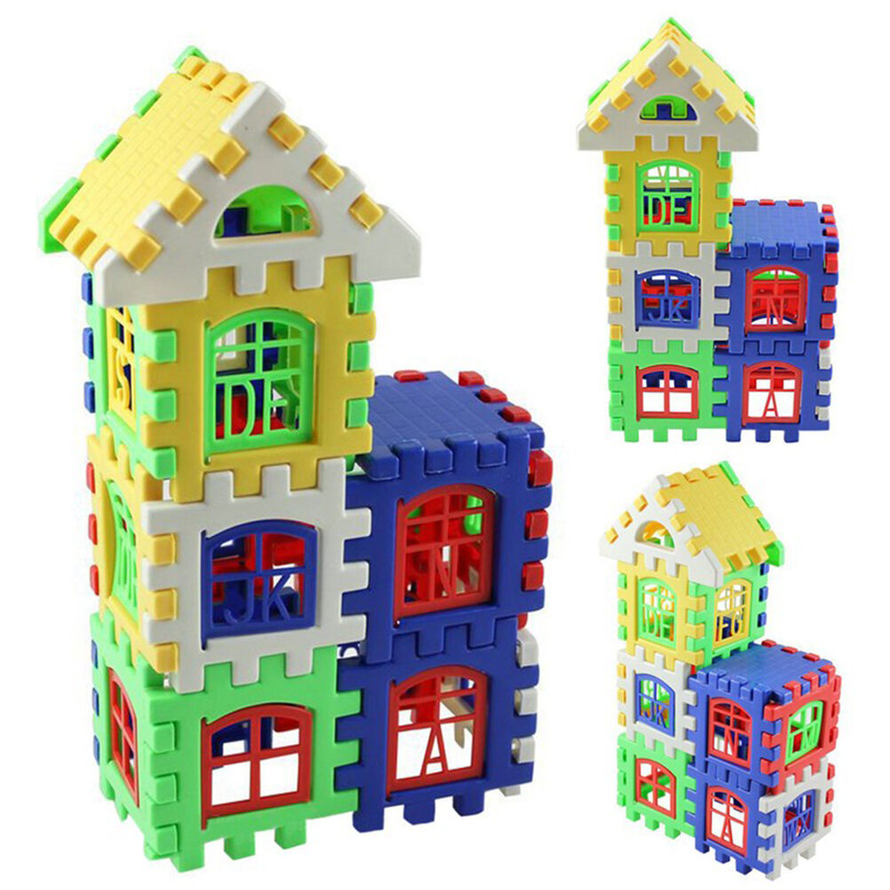 1Set Baby Kids House Building Block Educational Developmental Toy Brain Game QP