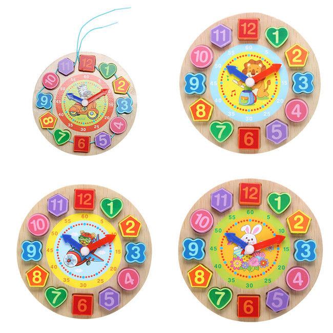 Digital Clock Cognition Time Educational Toys Kids Teaching Puzzle Child Games D