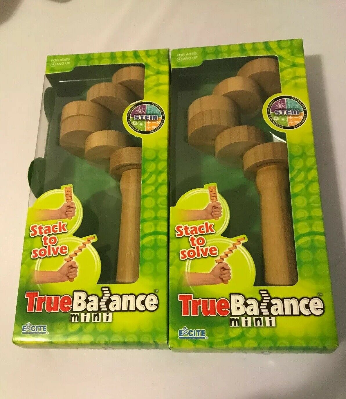 NEW True Balance Mini Wood STEM Learning Toy Excite Coordination Education 2 Set