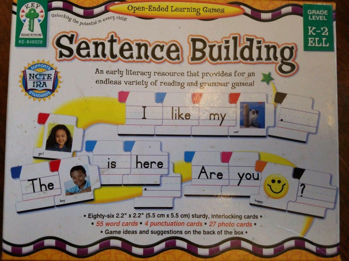 KEY EDUCATION SENTENCE BUILDING Learning Game GRADE K-2