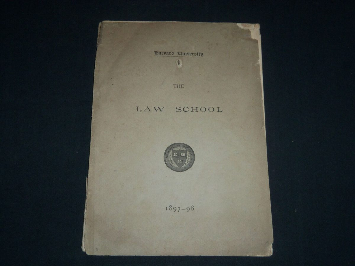 1897-1898 HARVARD UNIVERSITY LAW SCHOOL ANNOUNCEMENTS SOFTCOVER BOOK - J 4115 1