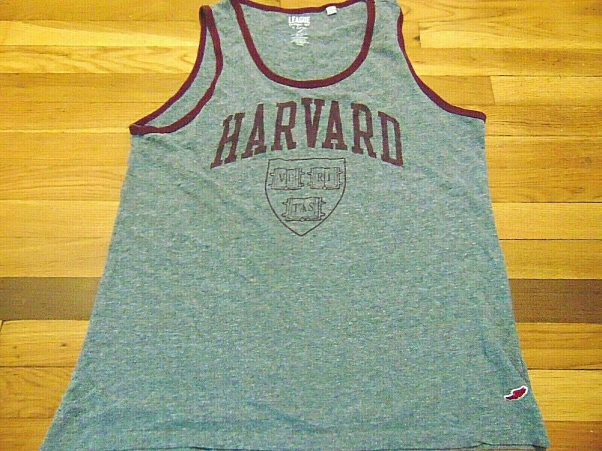 THE LEAGUE CLASSIC FIT NCAA HARVARD UNIVERSITY TANK TOP T-SHIRT SIZE XL