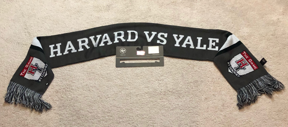 """HARVARD vs. YALE NCAA Winter SCARF """"The Game"""" at Fenway Park Nov 17, 2018 NEW 1"""