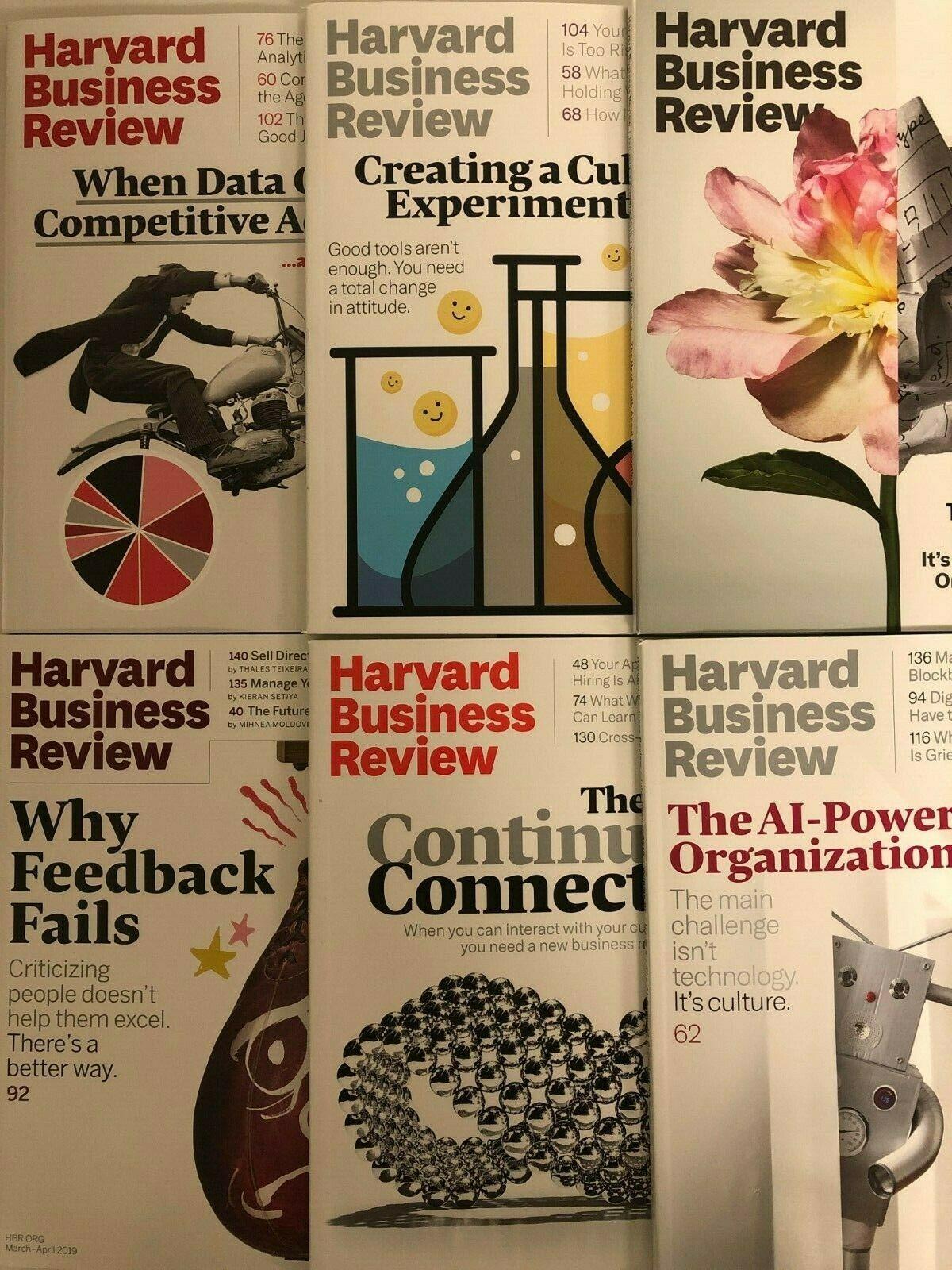 Harvard Business Review HBR Magazines, 1992 thru 2020 (Your Choice) 1