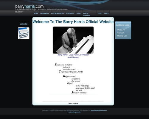 The Official Barry Harris Website for Jazz Education and Information 1