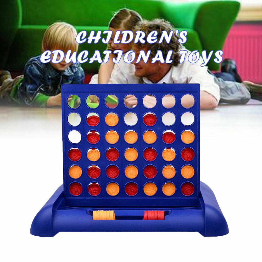 Fun Connect Four In A Row 4 In A Line Board Game Family Travel Educational Toys