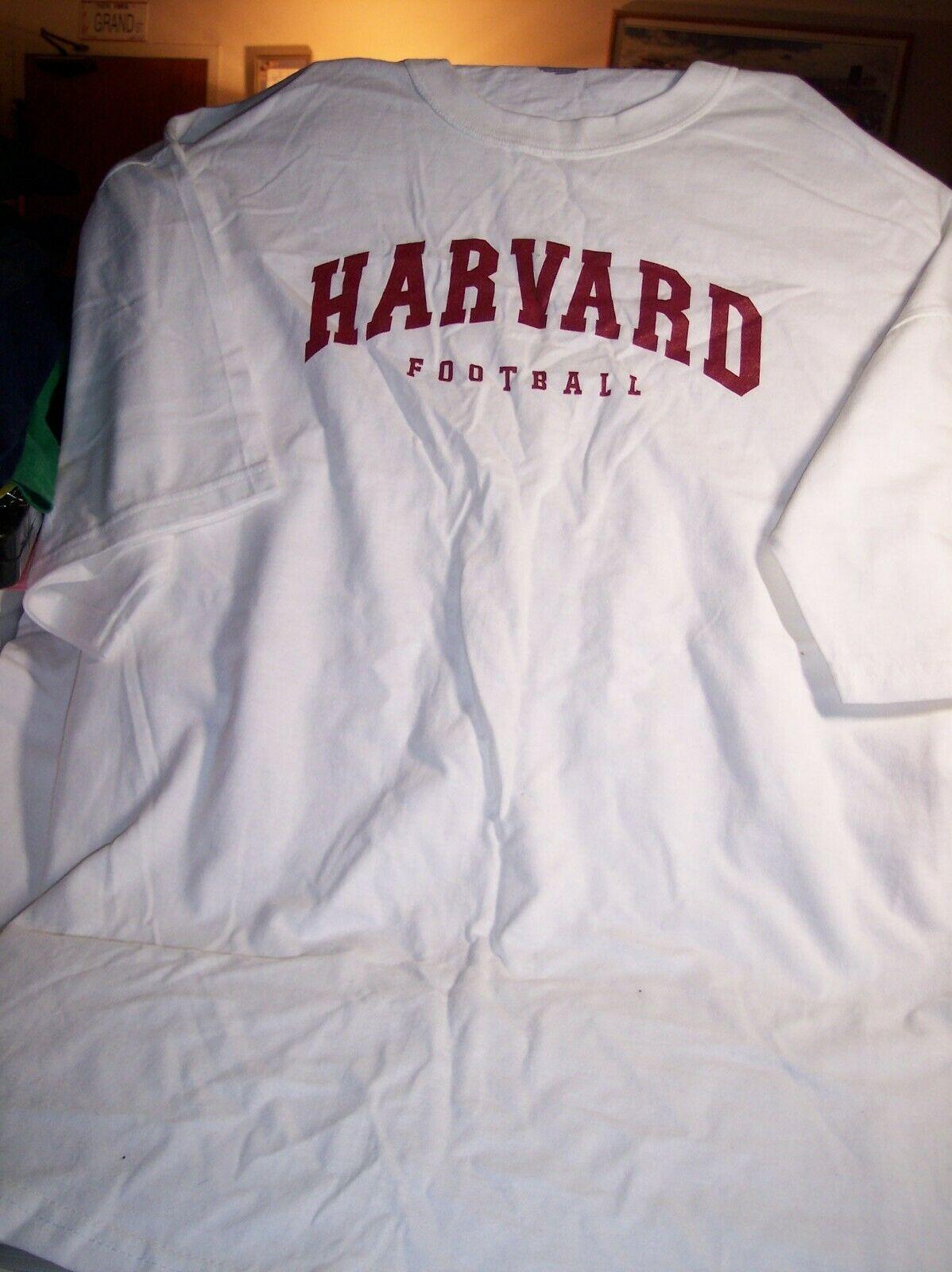 NCAA HARVARD FOOTBALL Tee Shirt Short Slv XXL 2XL