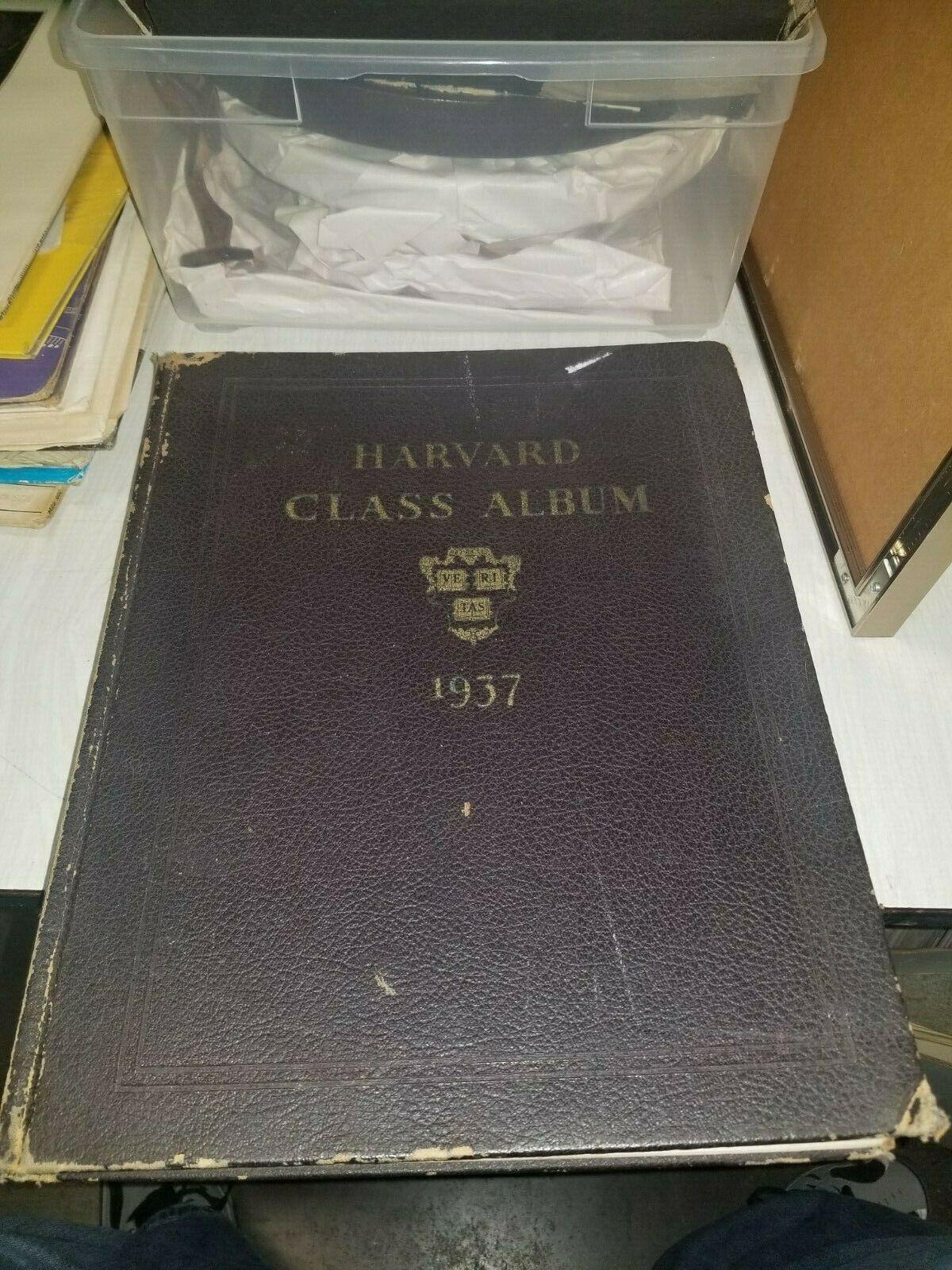 Harvard Law School Year Book 1937 Original From Family Estate