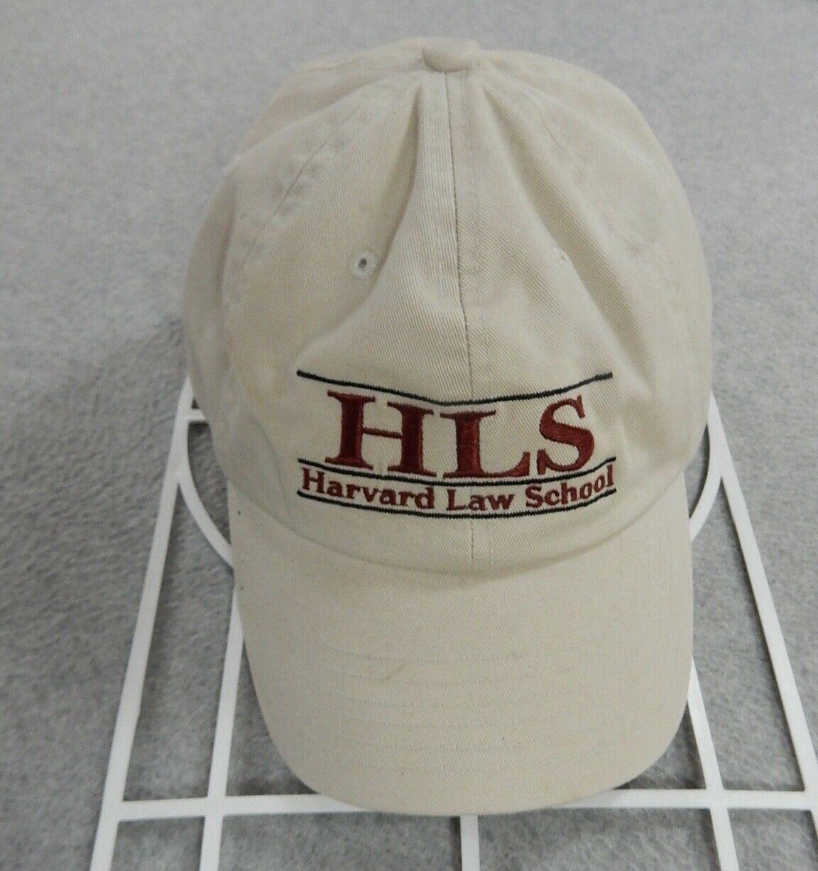Harvard Law School Stitched LOGO Adjustable Bookstore Hat Cap (Adult) Tan