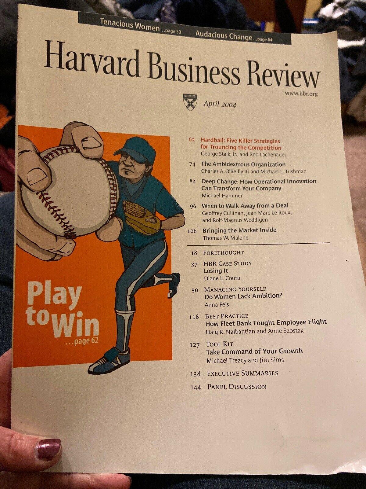 Harvard Business Review April 2004