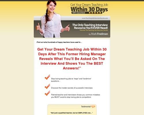Teaching Interview Secrets – High Conv. Education Niche