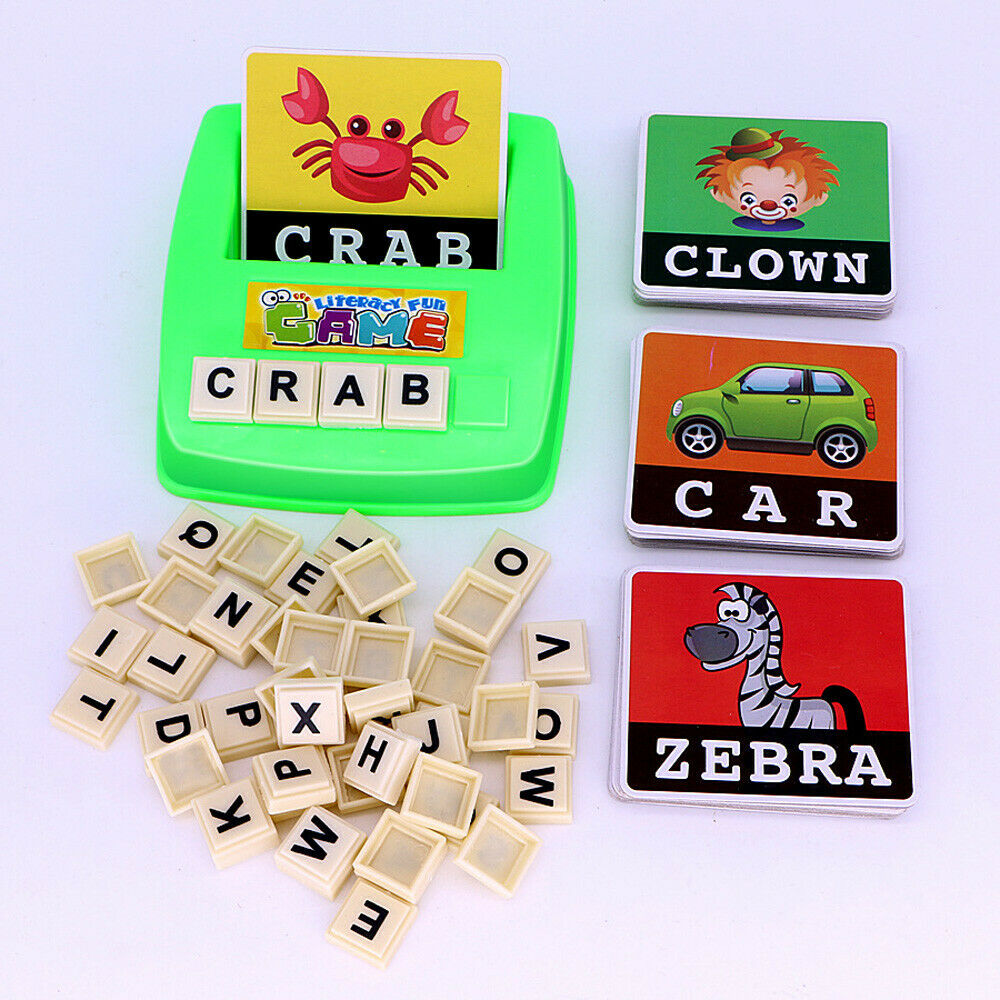 Kids English Spelling Game Alphabet Letter Learning Early Educational Plastic 1