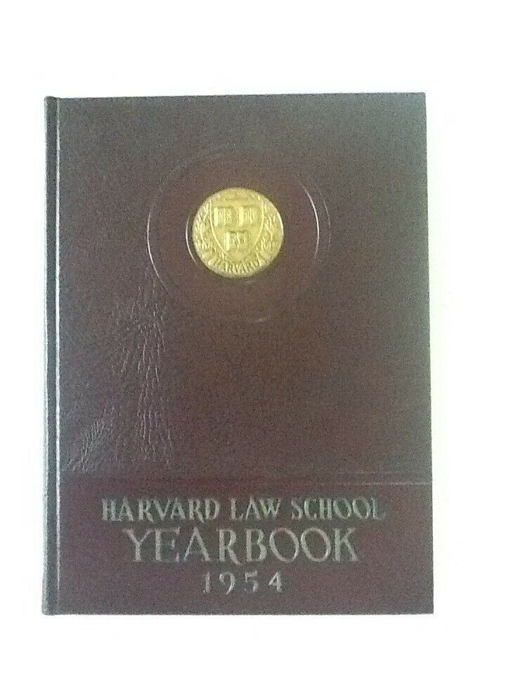 1954 Harvard Law School, Harvard U Cambridge MA Yearbook