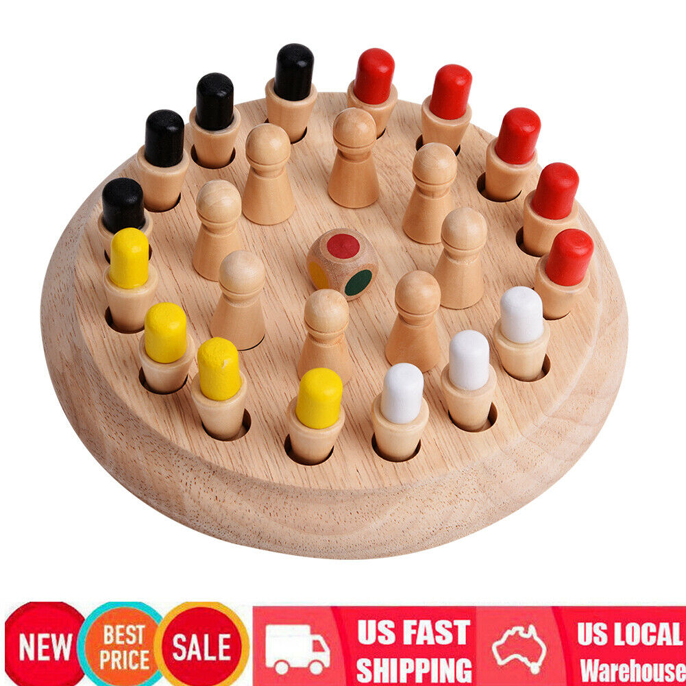 Wooden Memory Match Stick Chess Game Children Kidss Puzzle Educational Toy