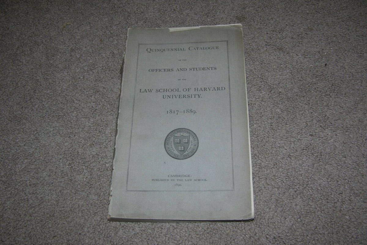 1871-1889 Officers & Students Harvard Law School, 250+ Pages