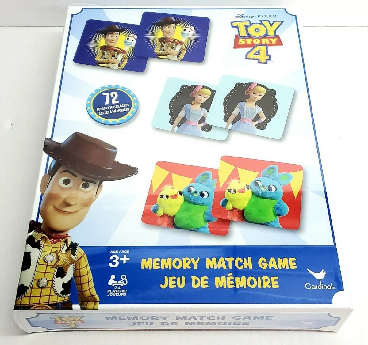 DISNEY PIXAR TOY STORY 4 Memory Match Game Cards Kids Educational NEW