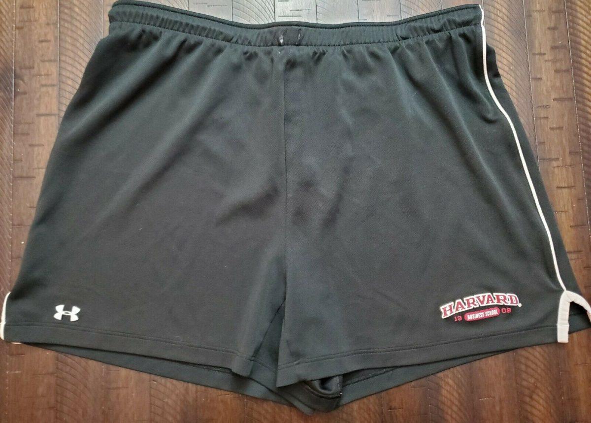 Under Armour Harvard Business School Womens Workout Shorts Black XL 1