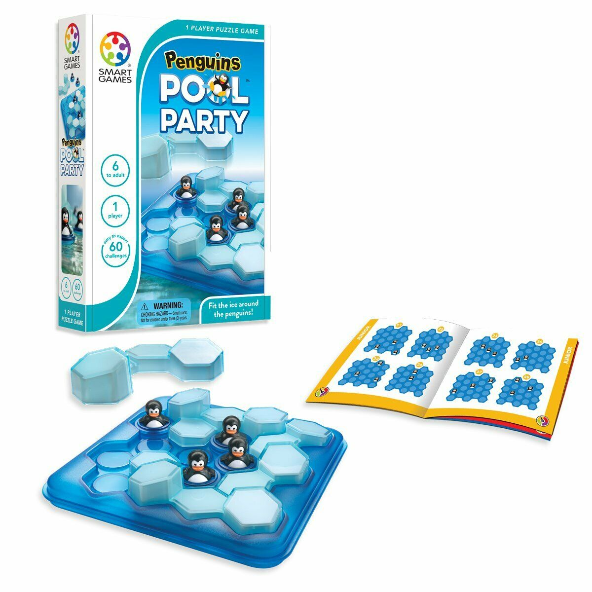 SmartGames Penguins Pool Party 3D Logic Educational Travel Game Toy Kids Adults 1