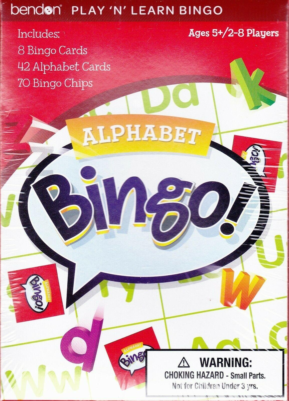 Game BINGO ALPHABET Letters Learning Educational