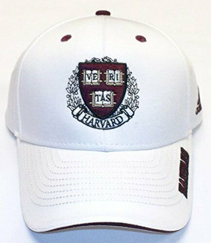 Harvard University White Adjustable Back Hat by Adidas