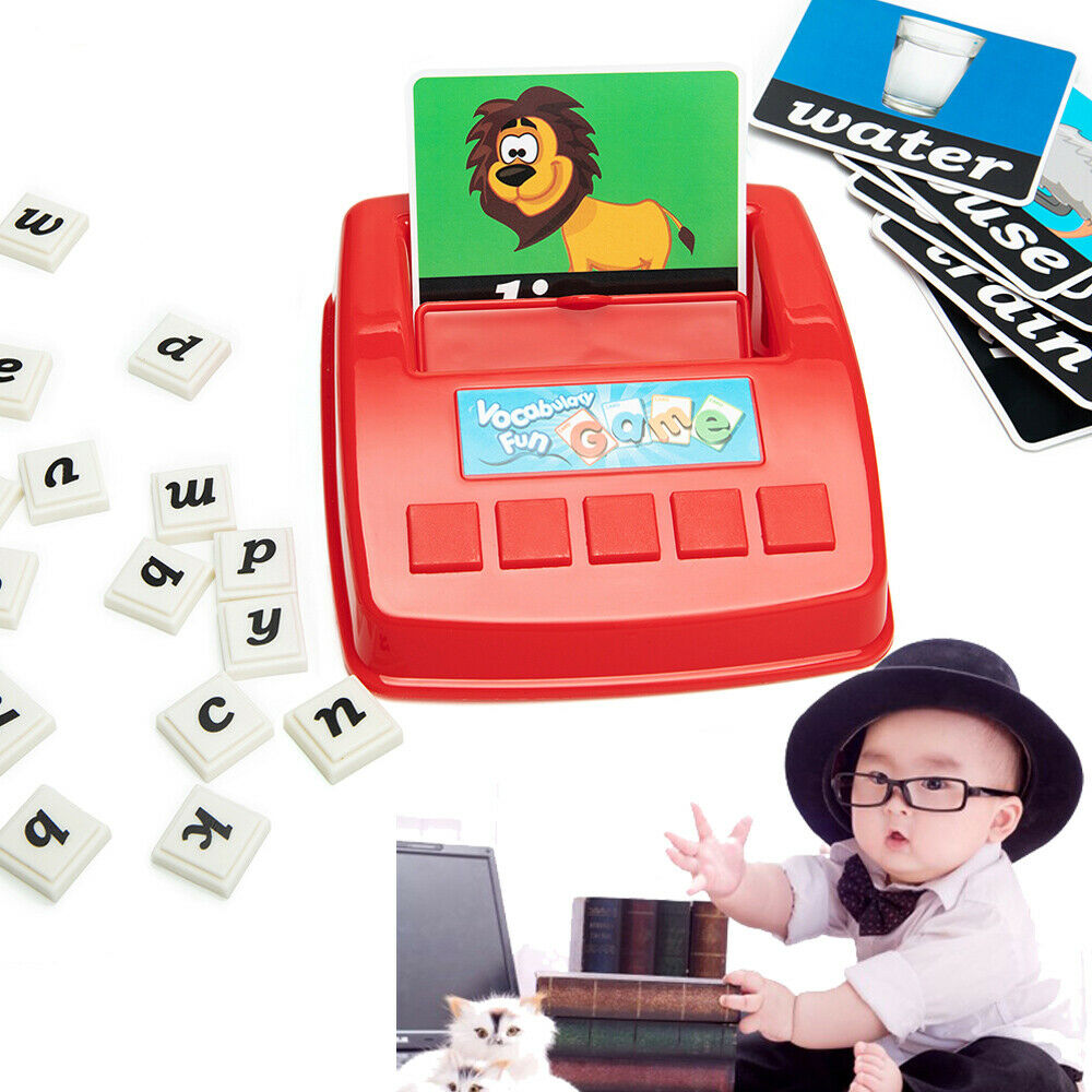 English Spelling Alphabet Puzzle Spell Words Game Early Learning Educational Toy