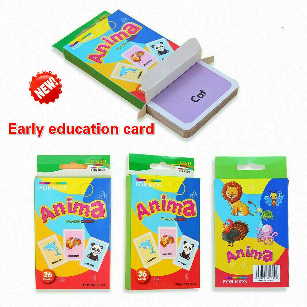 36pcs Early Learning English Number Letter Game Educational Card Kids DIY Gifts 1