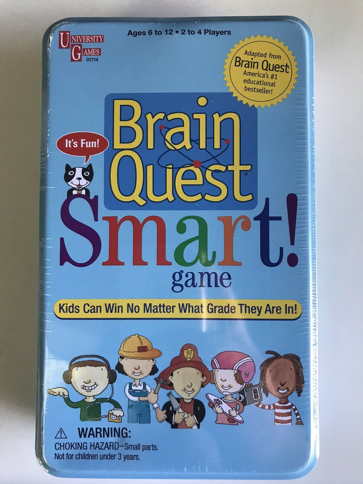 NEW Brain Quest Smart Game Grades 1 -6 SEALED in Tin Box ~ Educational 1