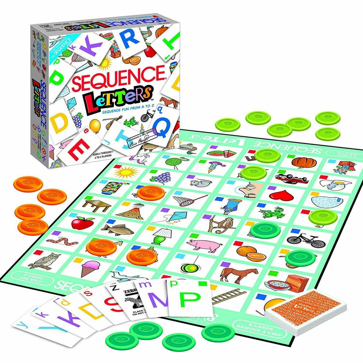 Sequence Letters Kids Educational Board Game Alphabet Learning for Age 4 5 6 7 1