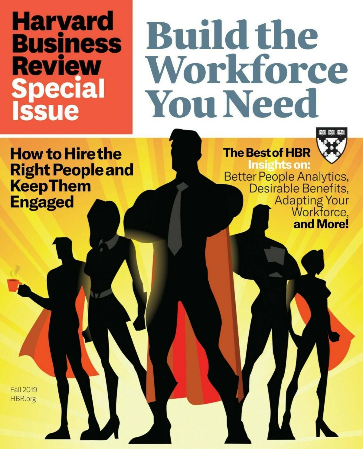 HARVARD BUSINESS REVIEW Fall 2019 ~ Build The Workforce You Need ~ FREE SHIP 1