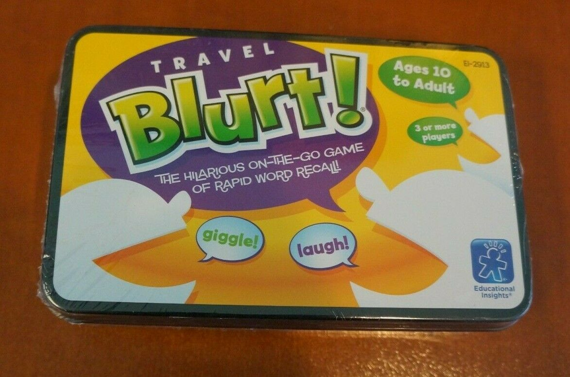 New Sealed Travel Blurt Word Game by Educational Insights 1
