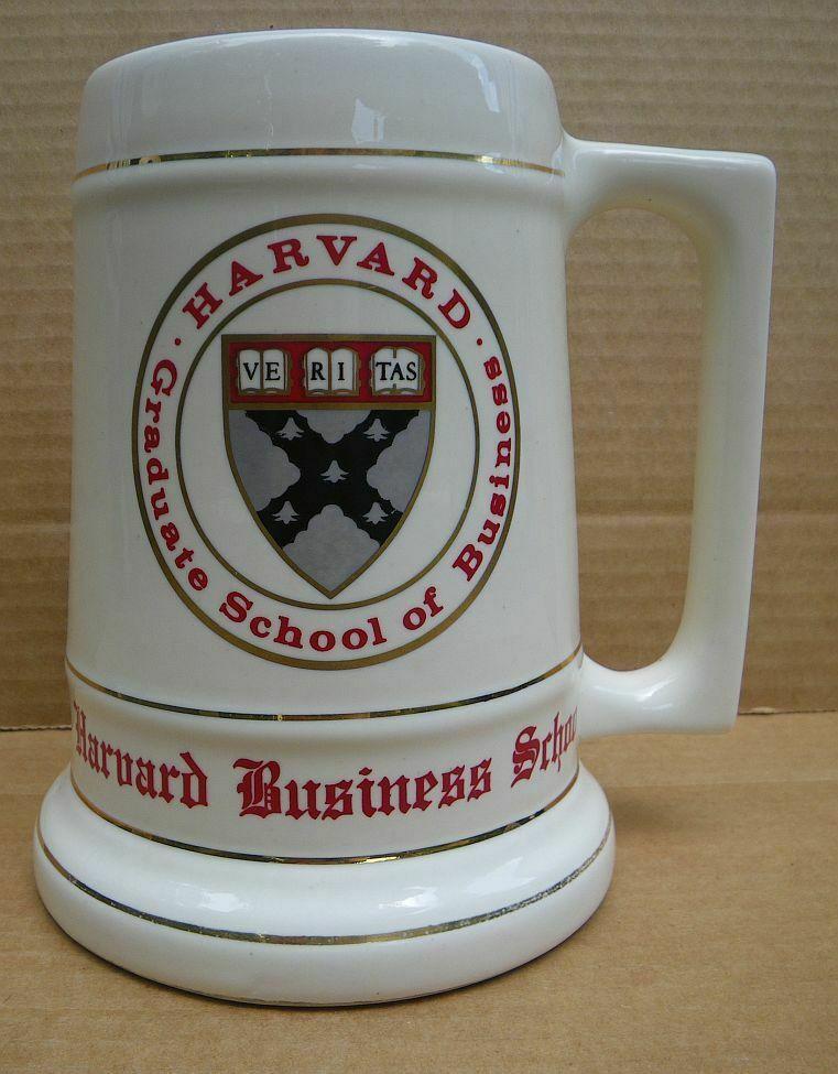 Sturdy Harvard University Graduate School of Business ceramic stein mug