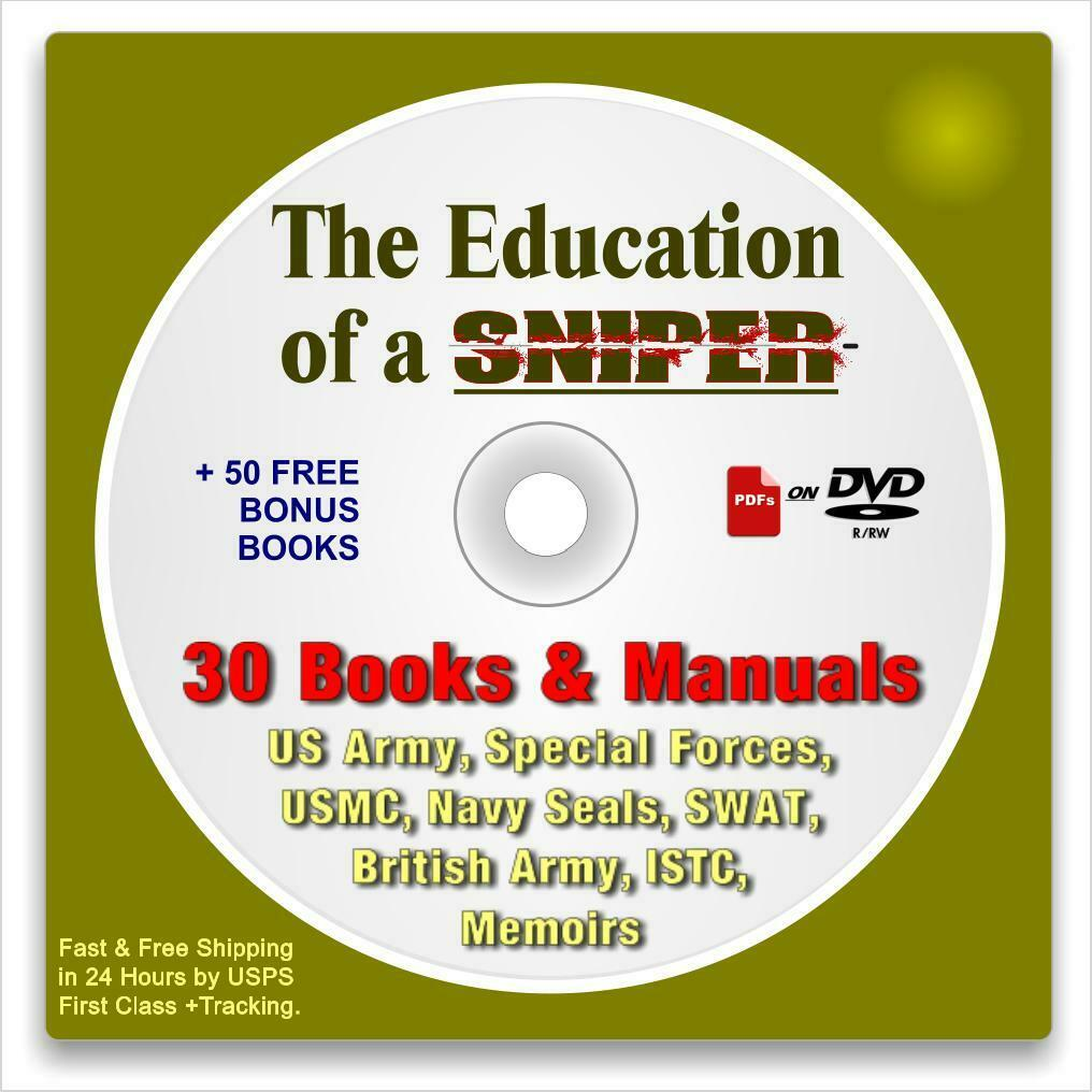 The Education of a Sniper: 80 Books CD-rom, Military, Police, Law Enforcement